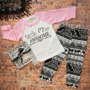 Other - Boutique Girls 3pc LITTLE MISS AWESOME Set